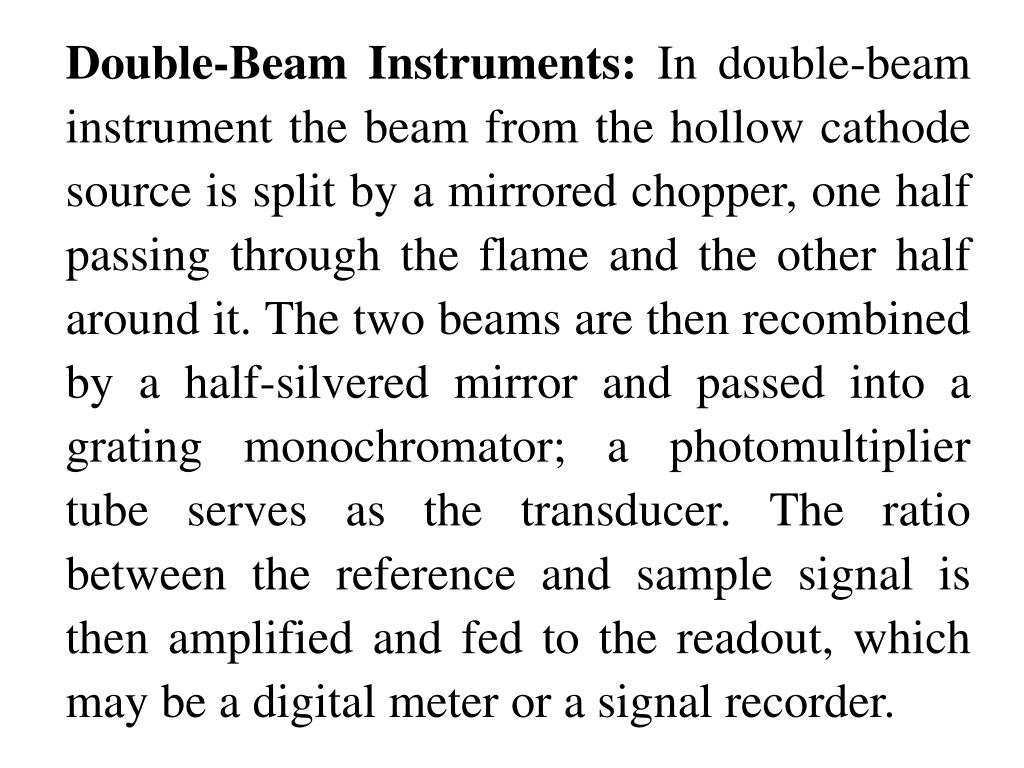 Double-Beam Instruments: