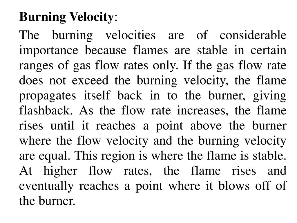 Burning Velocity