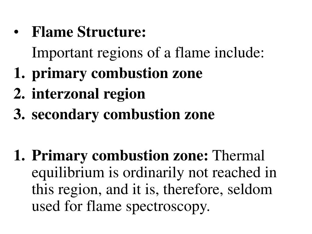 Flame Structure: