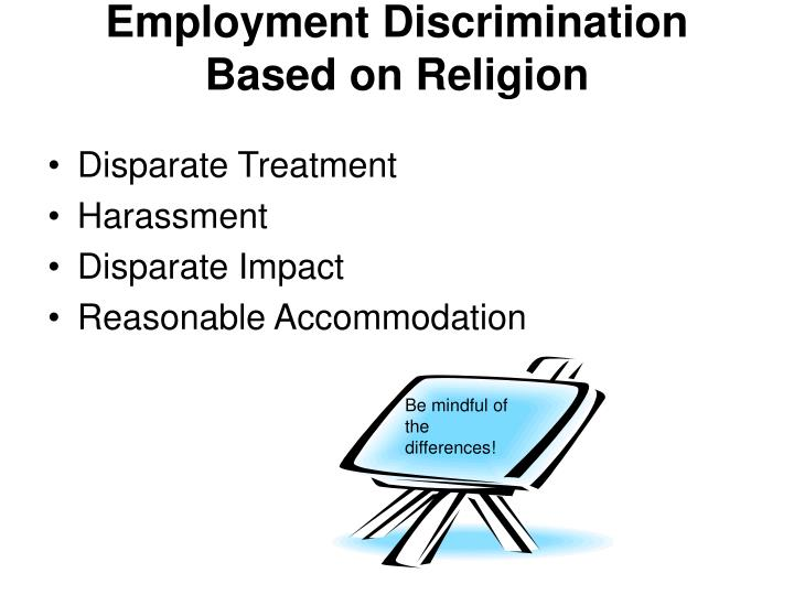 Employment Discrimination Based on Religion