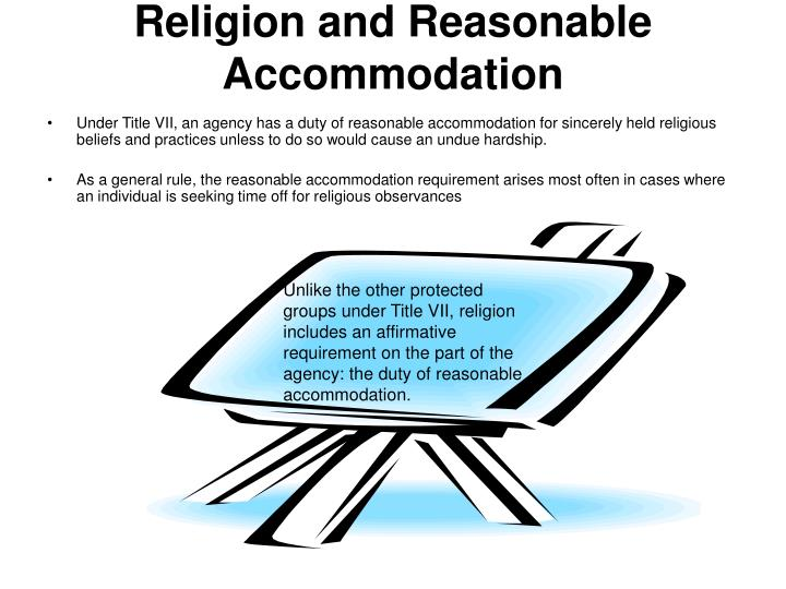 Religion and Reasonable Accommodation