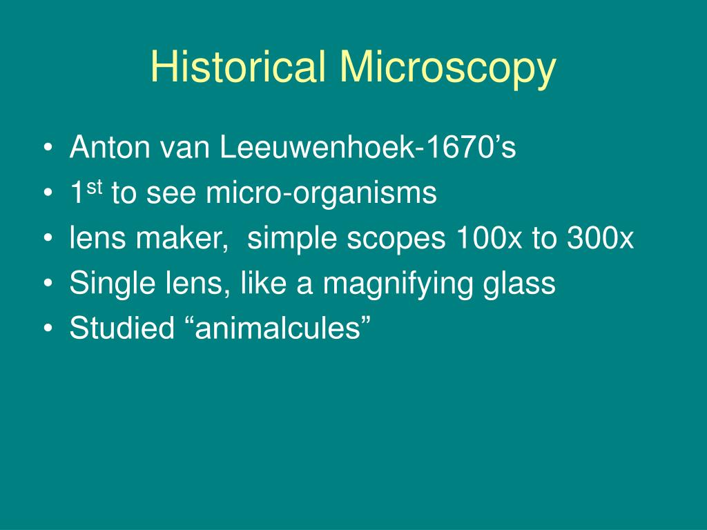 Historical Microscopy