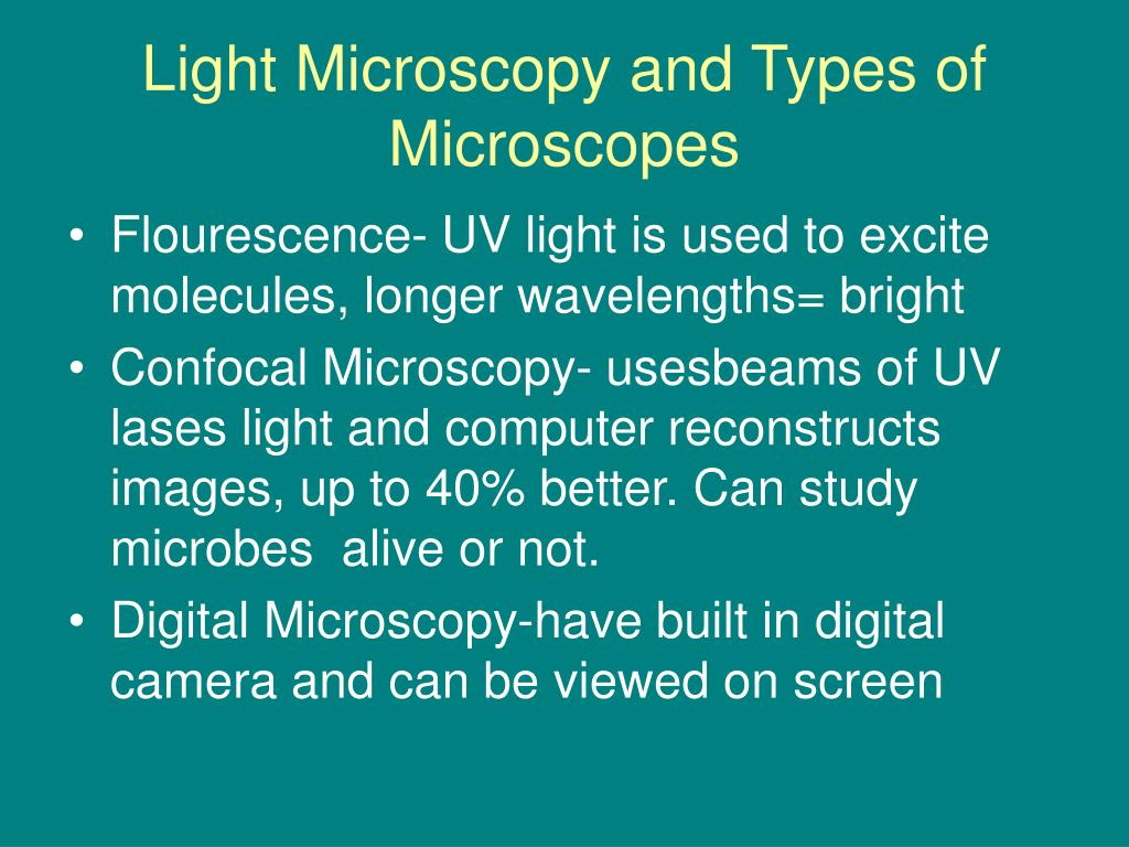 Light Microscopy and Types of Microscopes