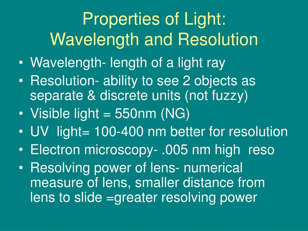 Properties of Light: