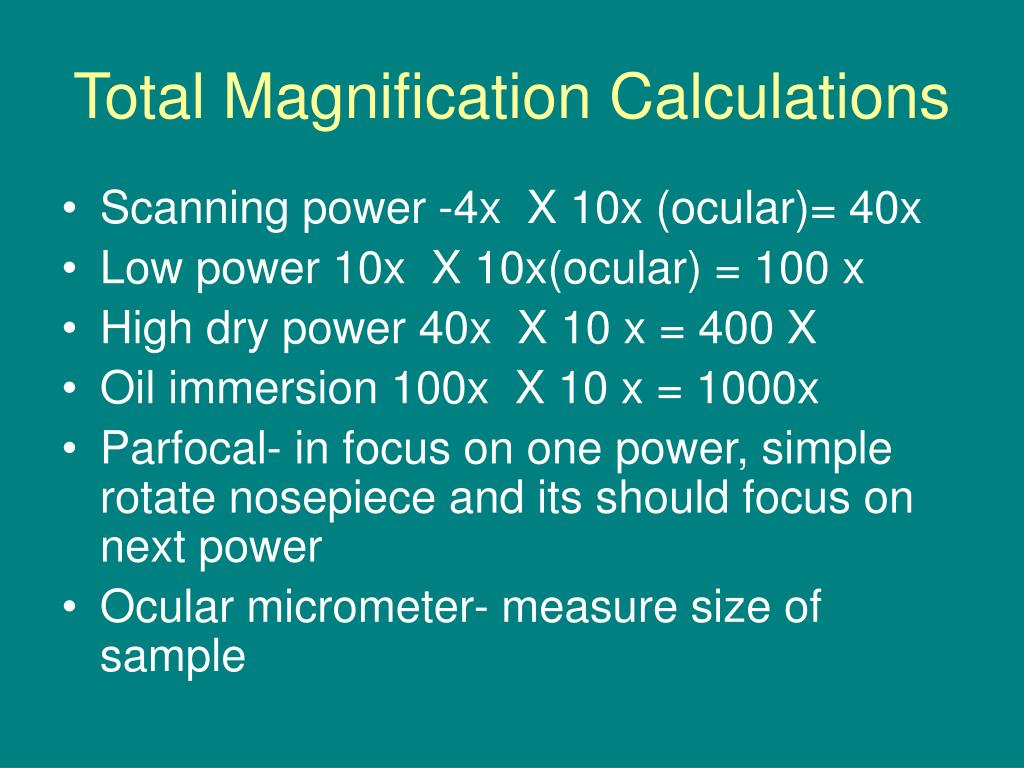 Total Magnification Calculations