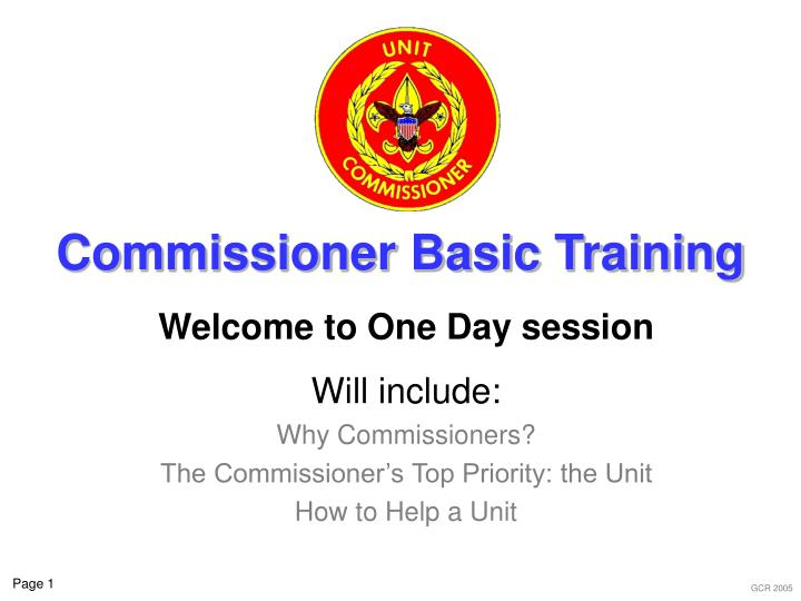 Commissioner basic training l.jpg