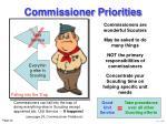 commissioner priorities