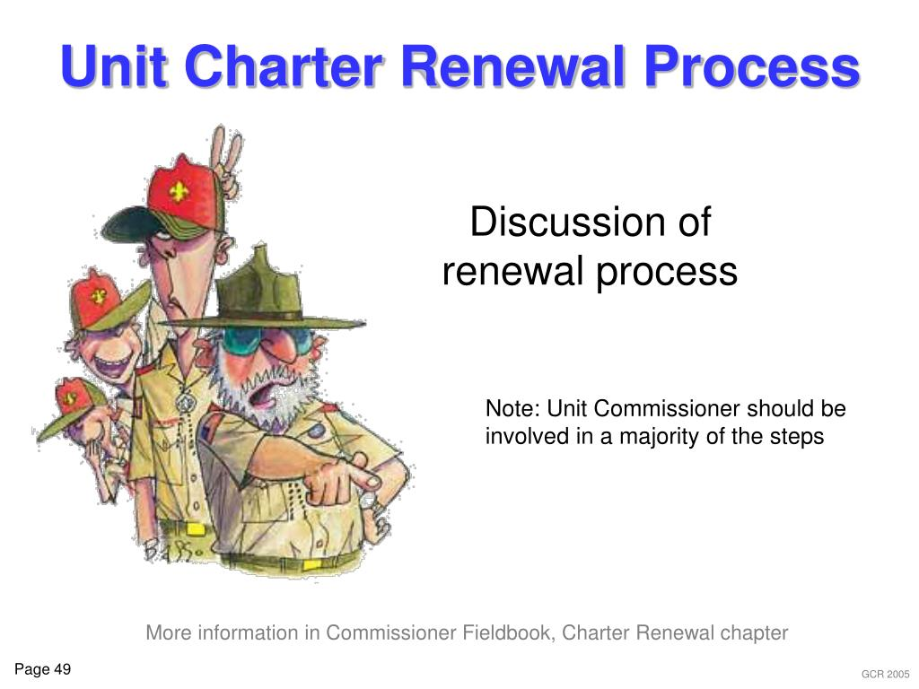 Unit Charter Renewal Process