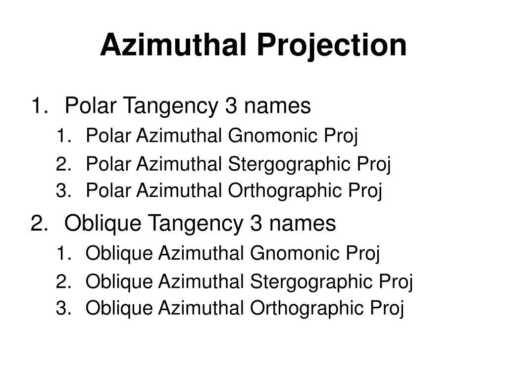 Azimuthal