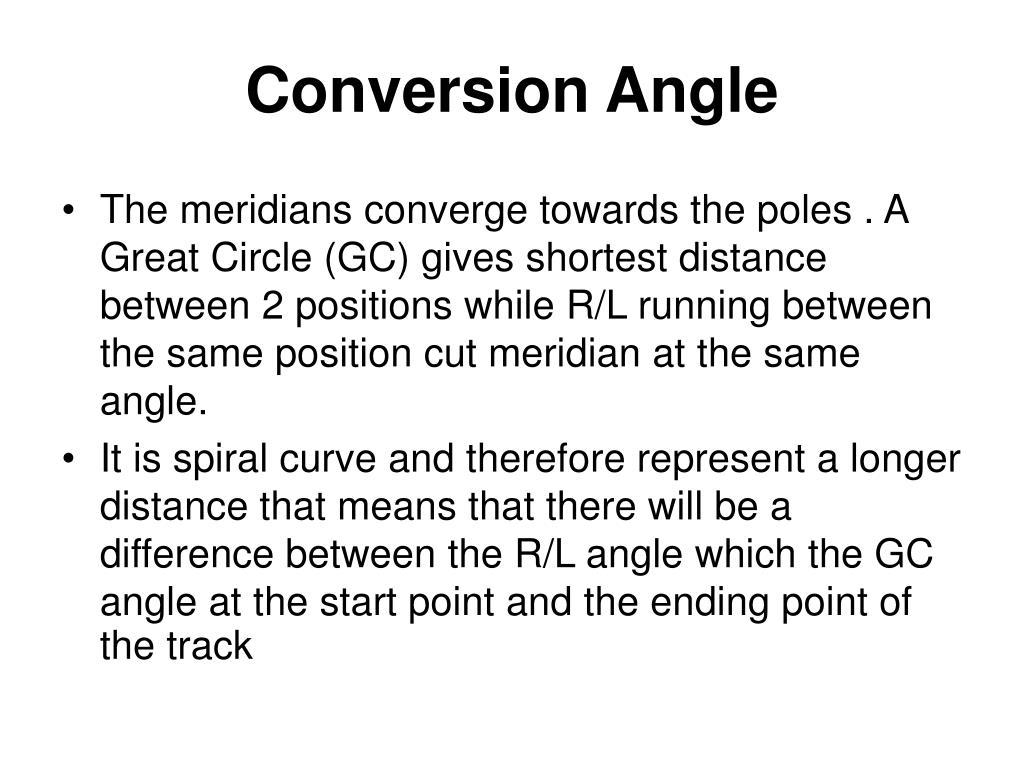 Conversion Angle