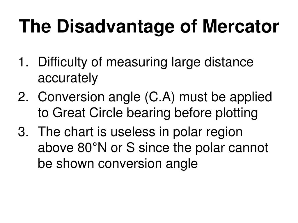 The Disadvantage of Mercator