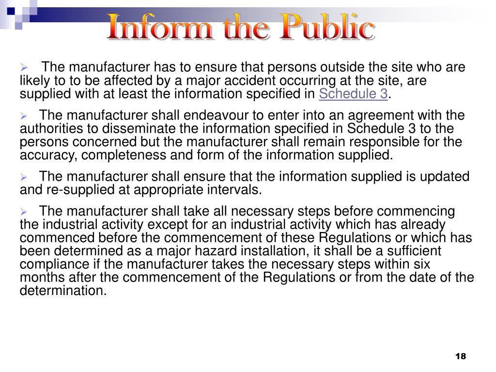 Inform the Public