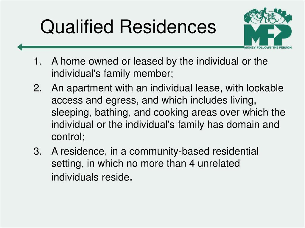 Qualified Residences