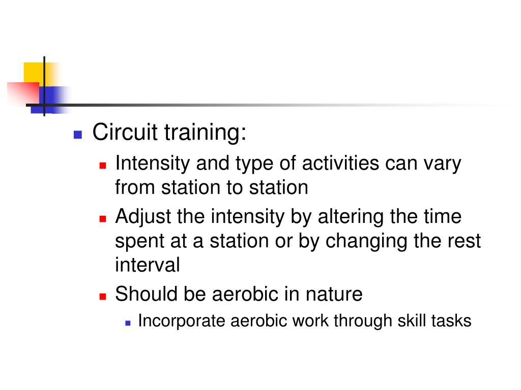 Circuit training: