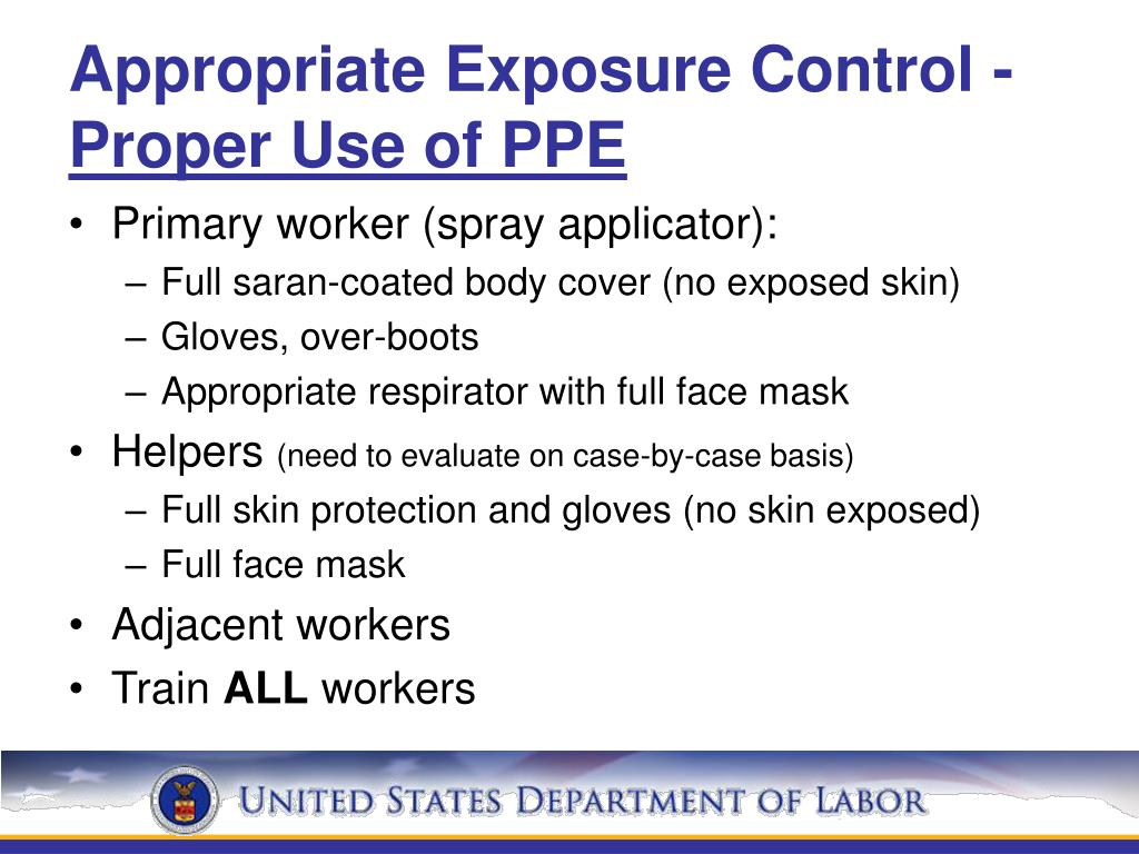 Appropriate Exposure Control -