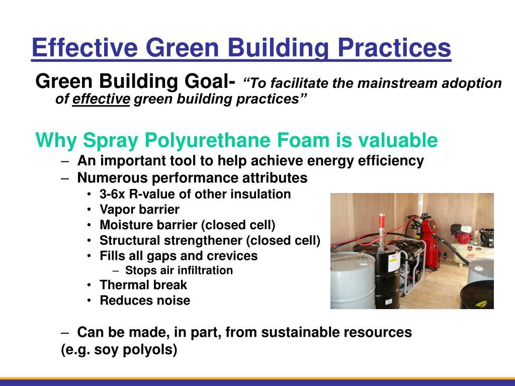 Effective Green Building Practices