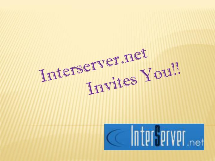 Interserver net invites you