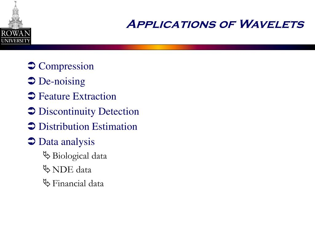 Applications of Wavelets