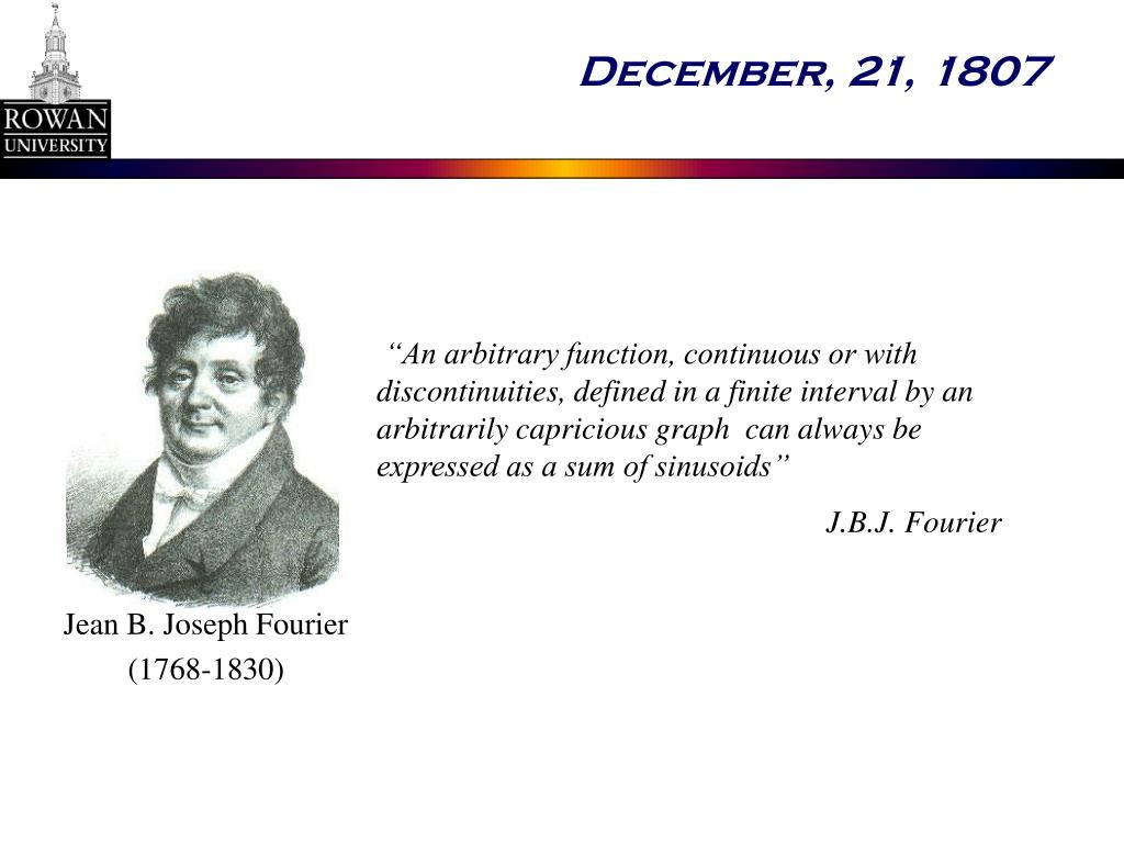 Jean B. Joseph Fourier