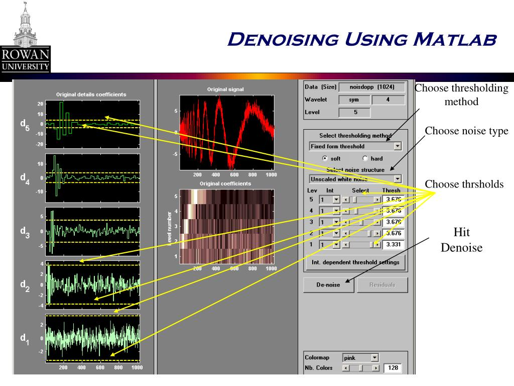 Denoising Using Matlab