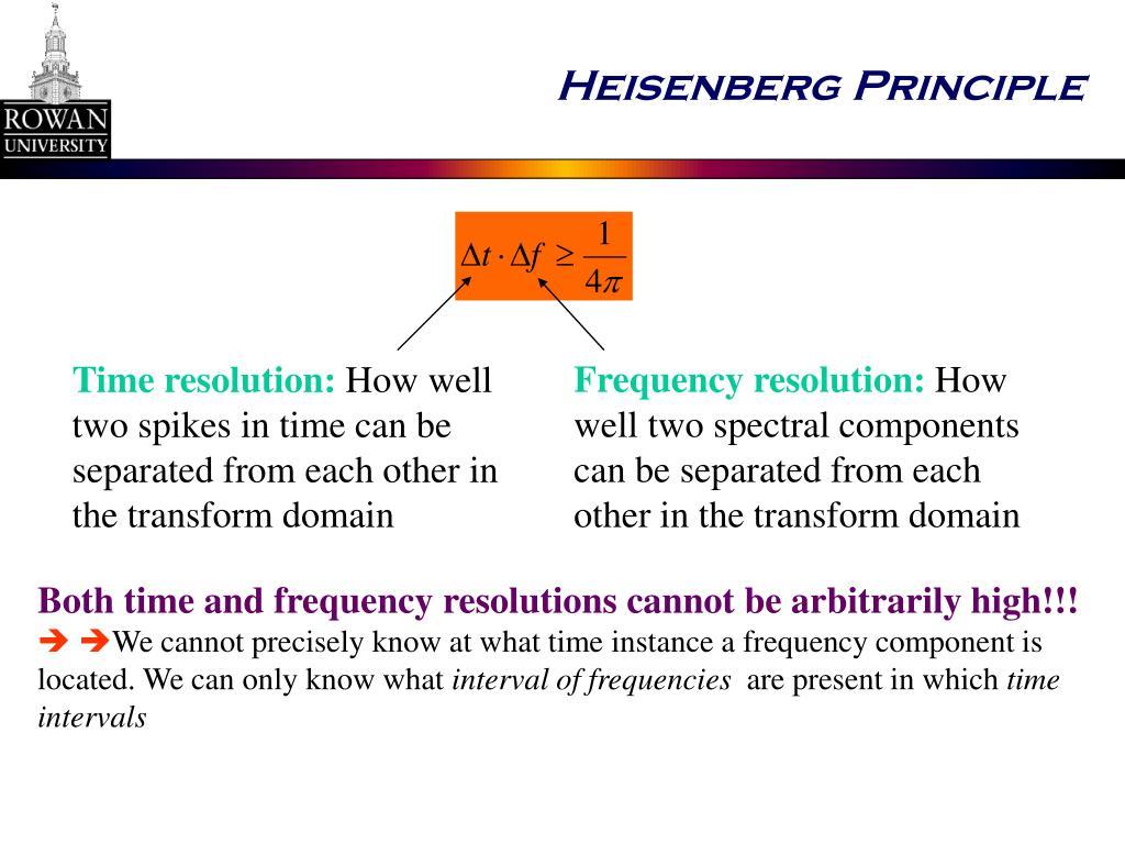 Heisenberg Principle