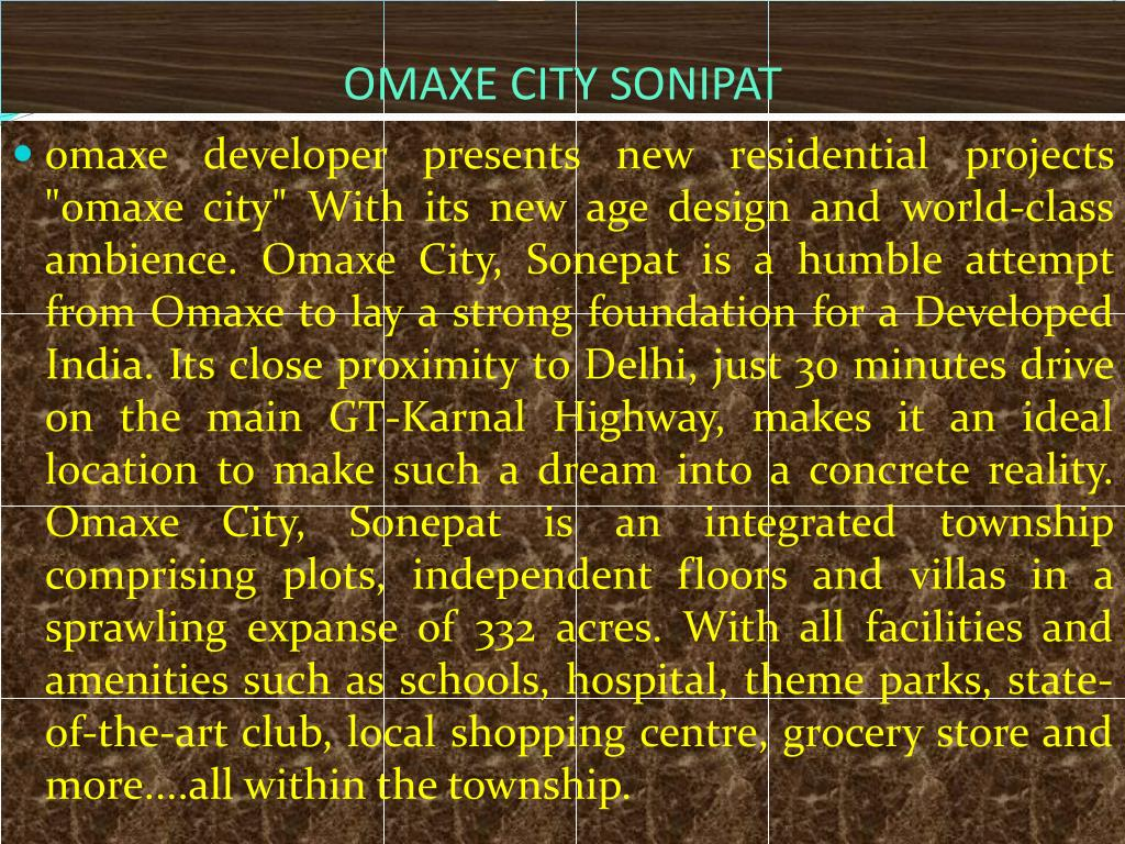 OMAXE CITY SONIPAT