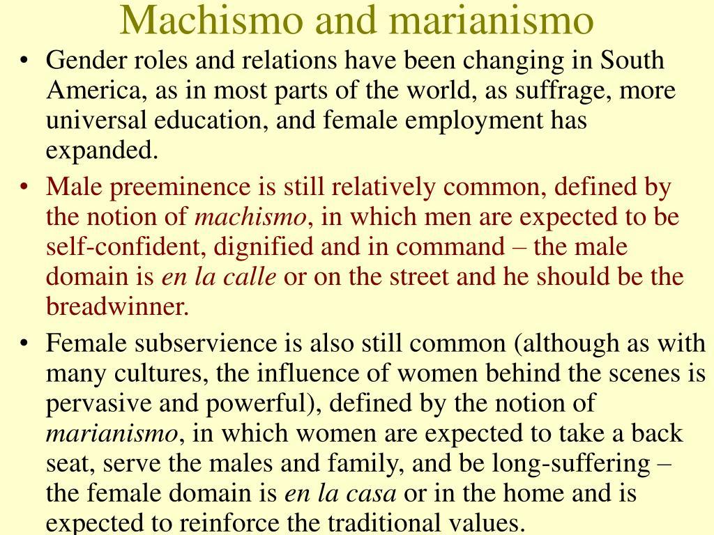 Machismo and marianismo