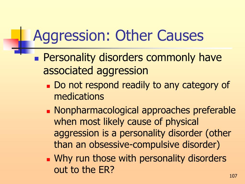 Aggression: Other Causes