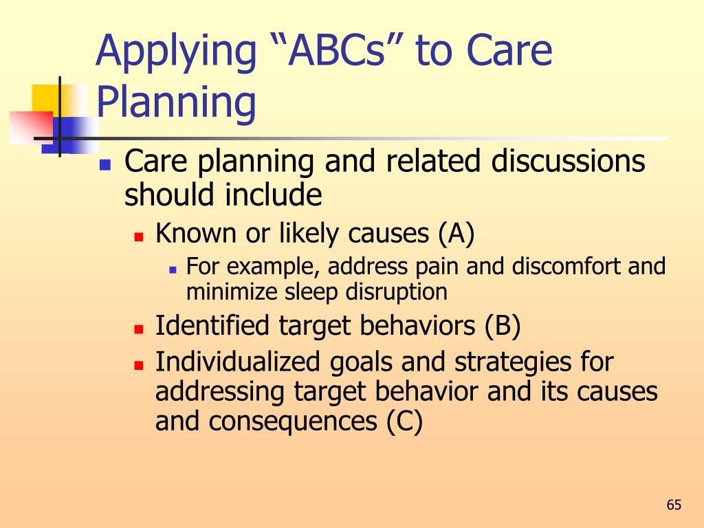 "Applying ""ABCs"" to Care Planning"