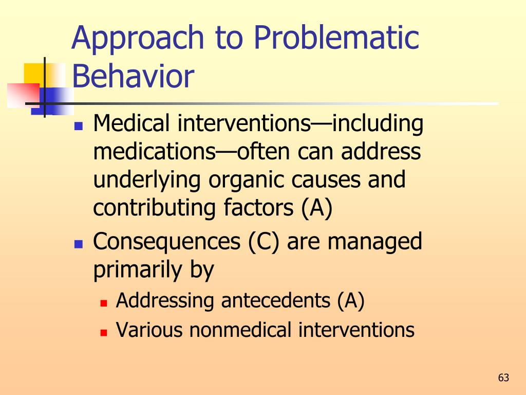 Approach to Problematic Behavior