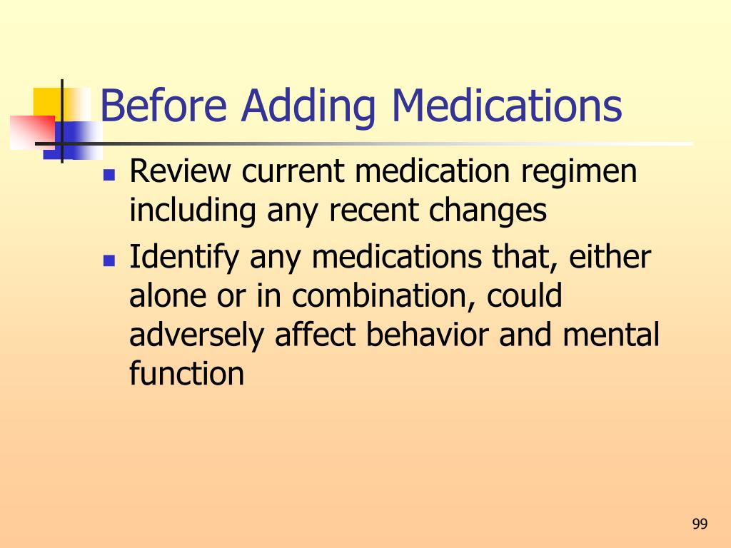 Before Adding Medications