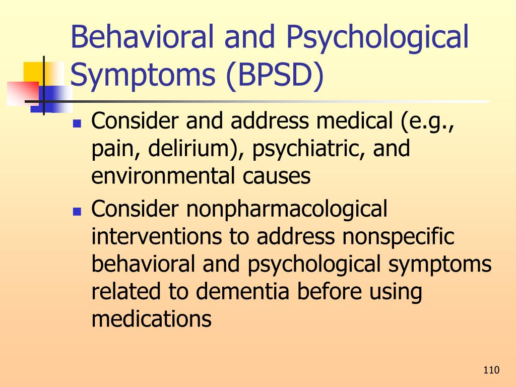 Behavioral and Psychological Symptoms (BPSD)