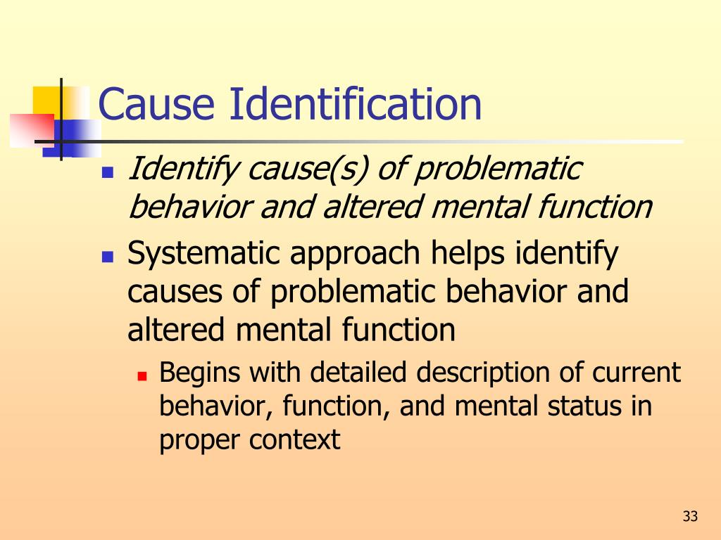 Cause Identification