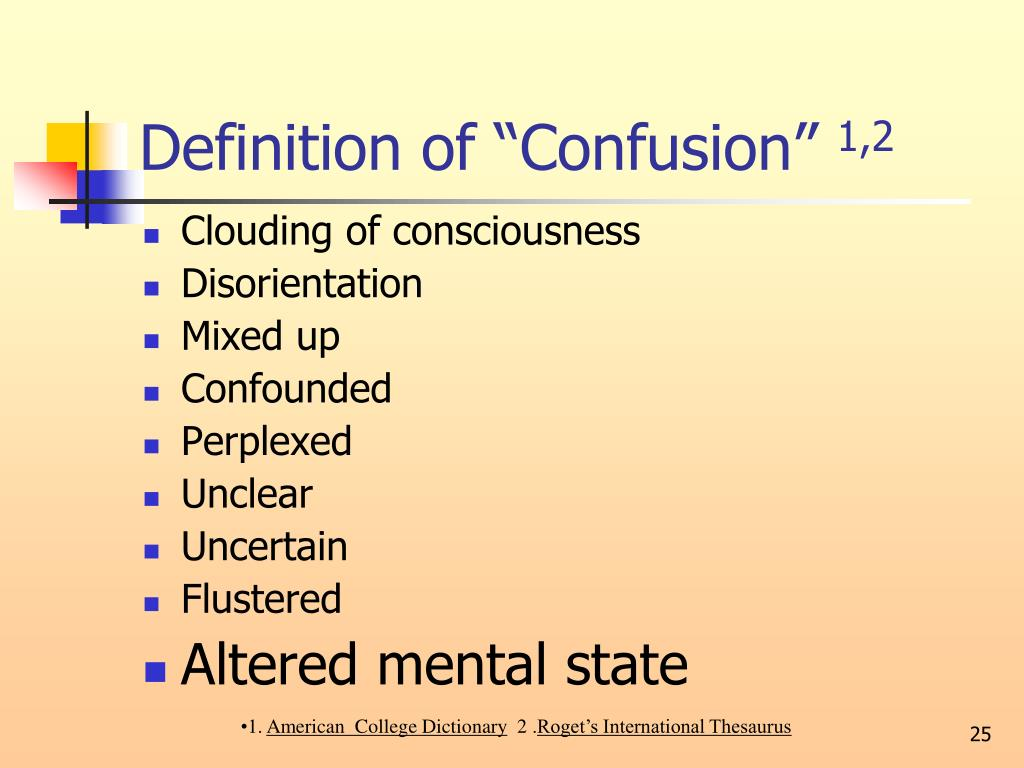 """Definition of """"Confusion"""""""