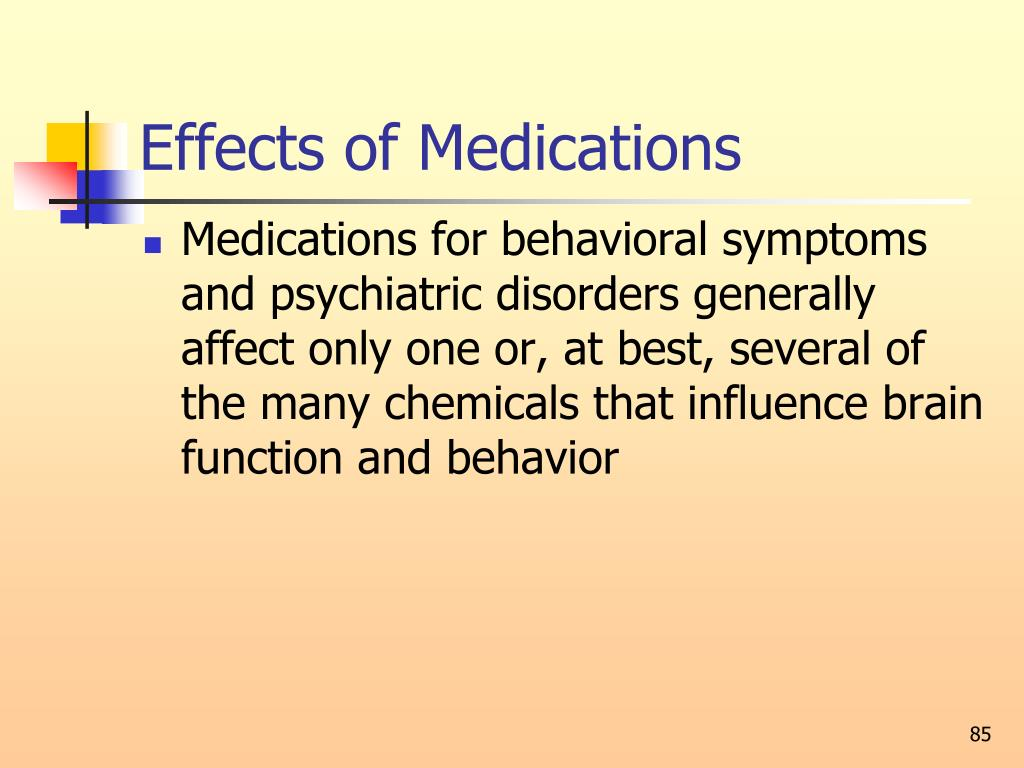 Effects of Medications
