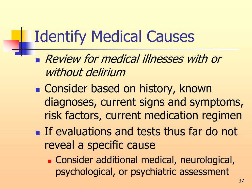 Identify Medical Causes