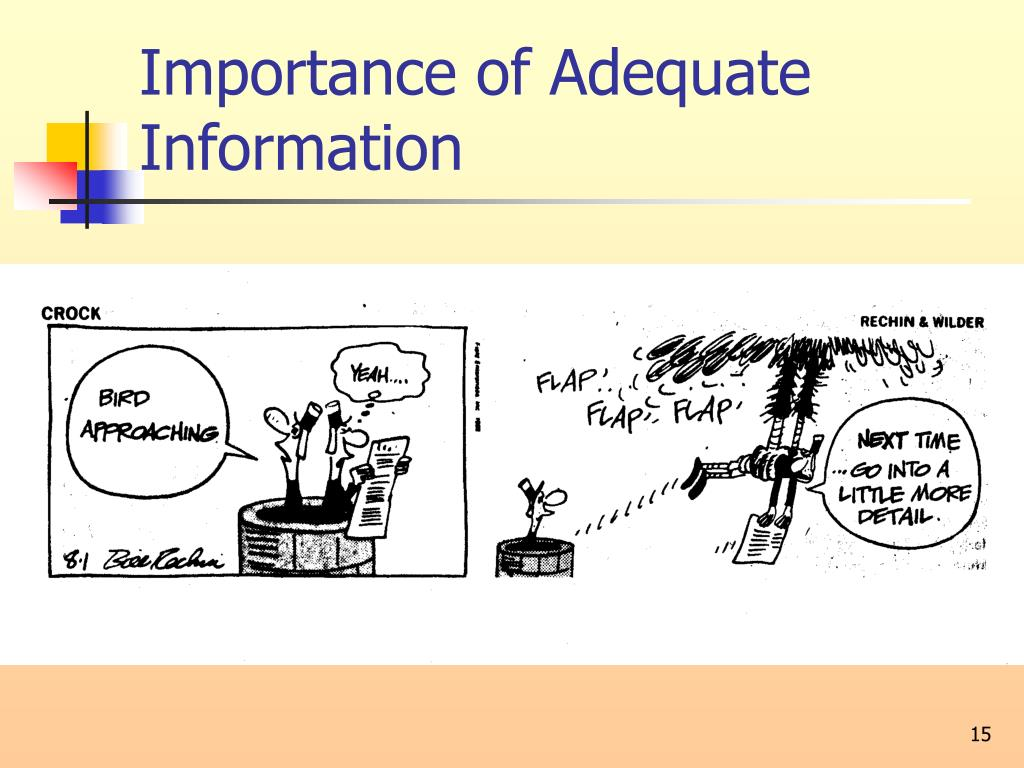 Importance of Adequate Information