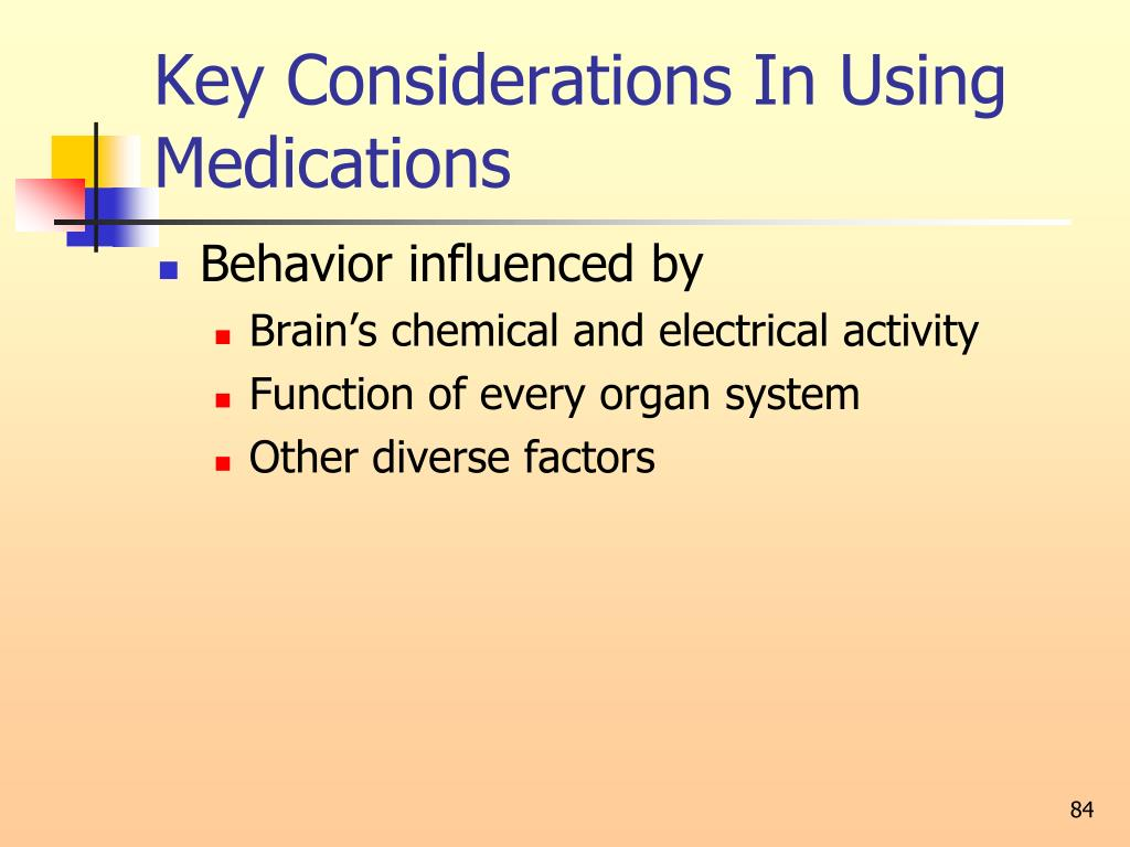 Key Considerations In Using Medications