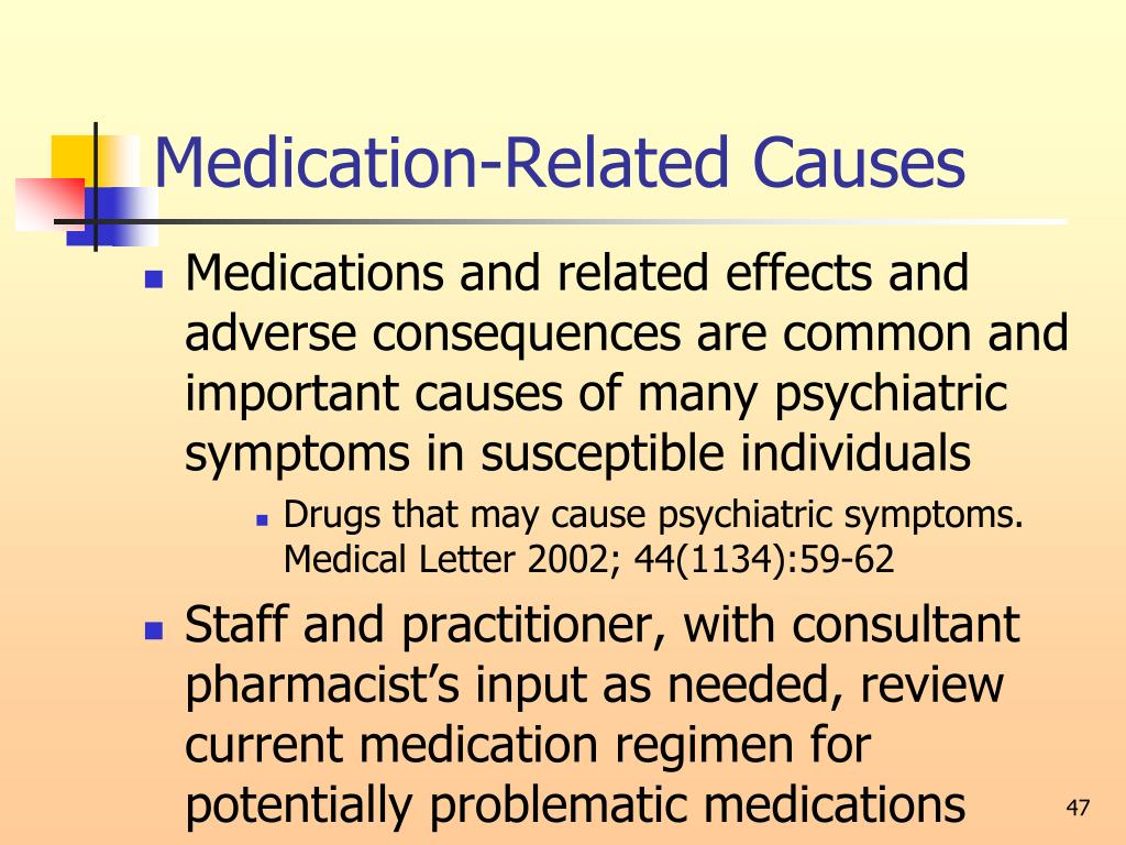 Medication-Related Causes