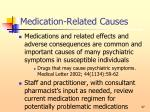 medication related causes