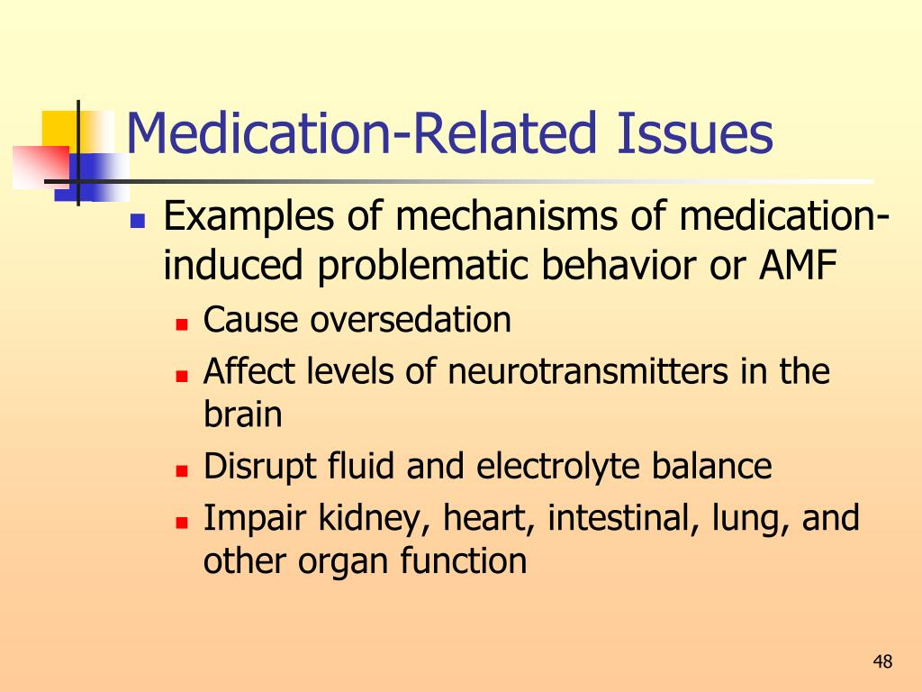 Medication-Related Issues