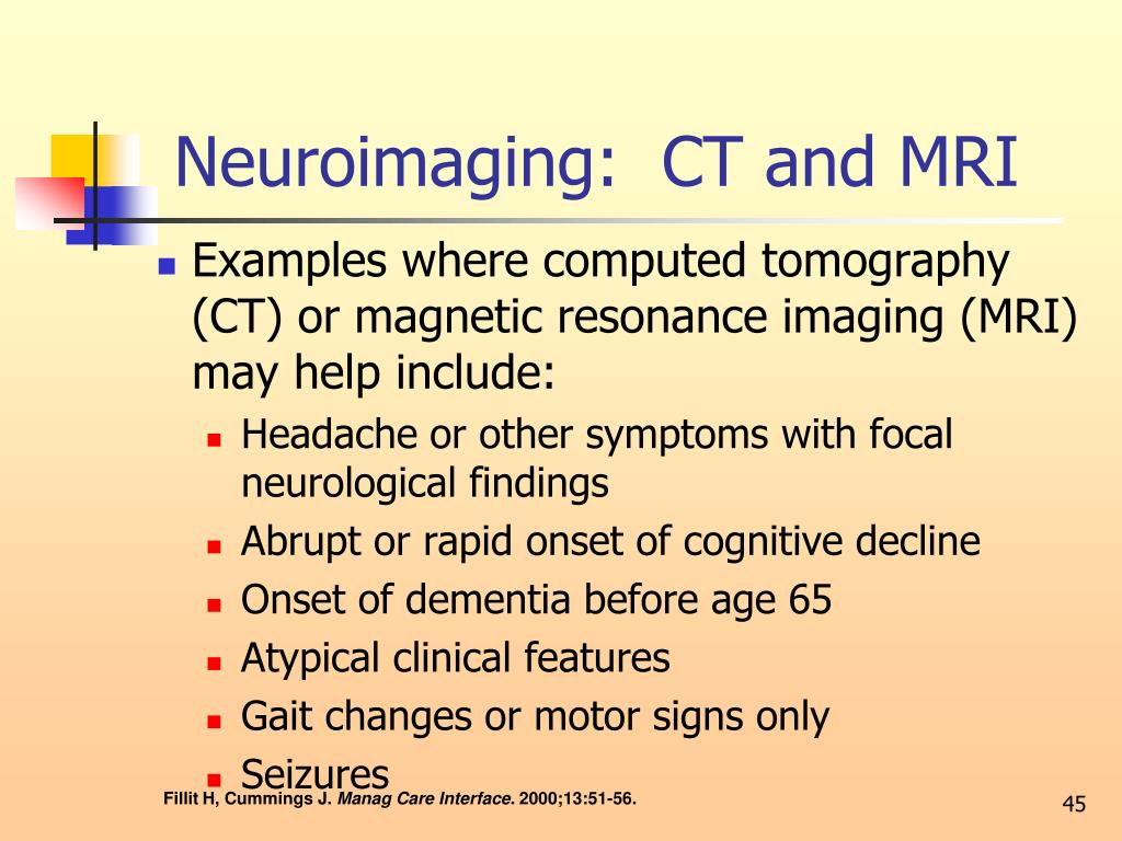 Neuroimaging:  CT and MRI