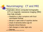 neuroimaging ct and mri