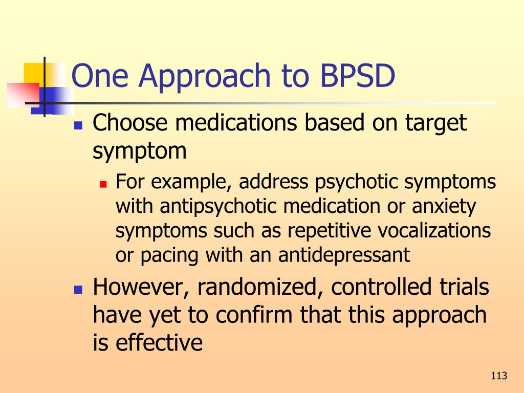 One Approach to BPSD