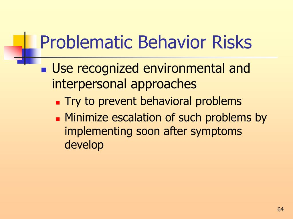 Problematic Behavior Risks