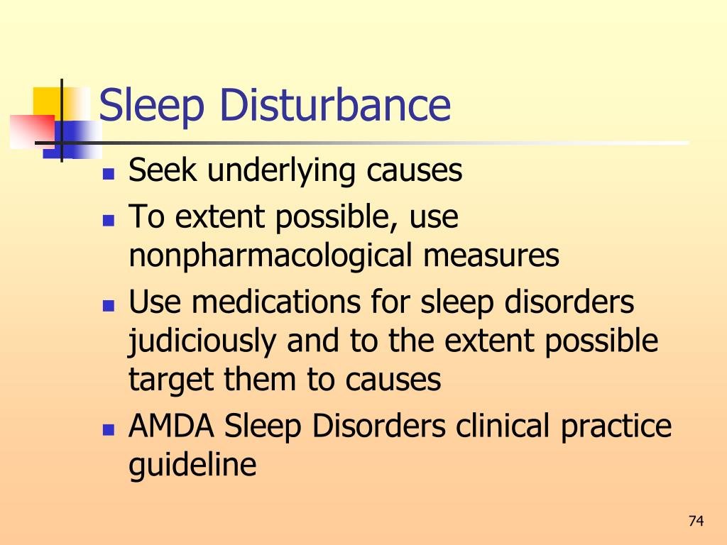 Sleep Disturbance
