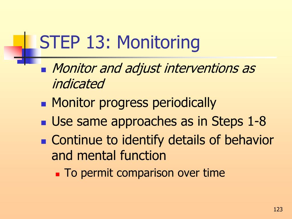 STEP 13: Monitoring