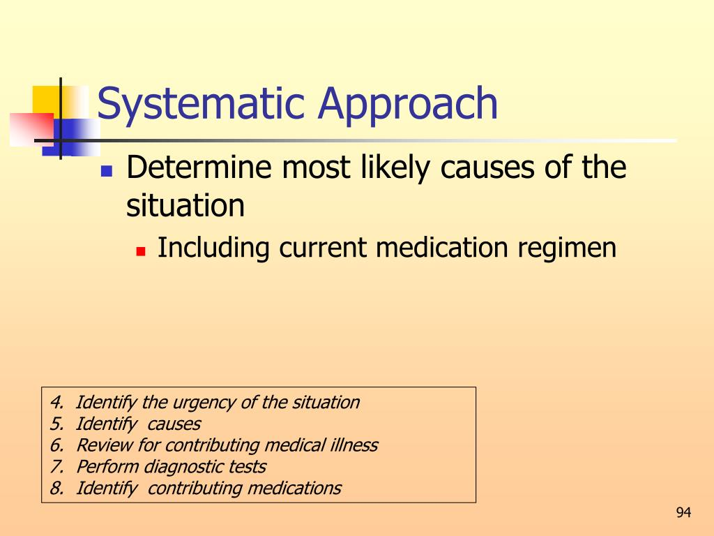 Systematic Approach