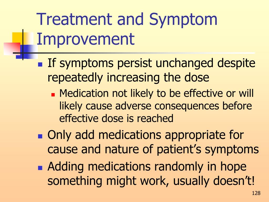 Treatment and Symptom Improvement