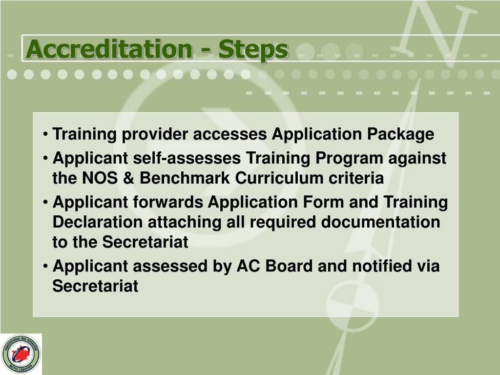 Accreditation - Steps